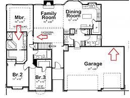 bedroom house plan sign