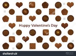 chocolates for s day day postcard various chocolates stock vector 168627965