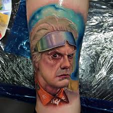 christopher lloyd portrait tattoo by john barrett yogi barrett