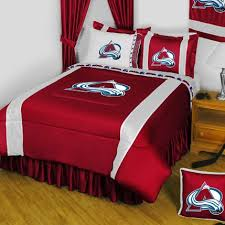 Hockey Bedding Set 5pc Nhl Colorado Avalanche King Bedding Set Hockey