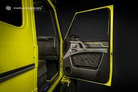 carlex designs lime yellow interior for mercedes benz g550 4x4