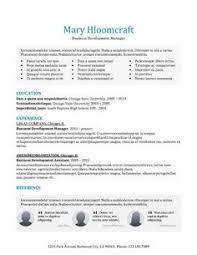 leaflet free resume template by hloom com cv pinterest