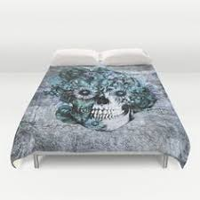 Day Of The Dead Bedding Day Of The Dead Bedding Set Dia De Los Muertos Rockabilly Black