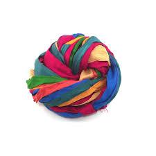 silk ribbon multicolored finished edges sari silk ribbon 1 wide darn yarn