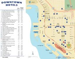 Hotels Washington Dc Map by Downtown San Diego Hotel Map