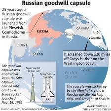 25 years ago a 5 000 pound russian capsule hurtled into the