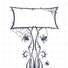 halloween frame halloween frame with scary decorations vector image 37069 u2013 rfclipart