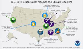 Map Of The Southern States Of America by Billion Dollar Weather And Climate Disasters Overview National