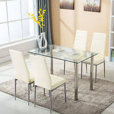 glass dining room table sets glass dining furniture sets ebay