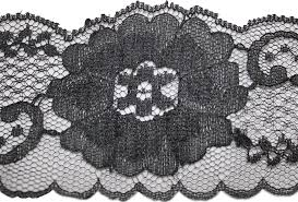 black lace trim black floral design scalloped lace trim 2 1 2 w l8 5