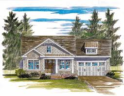 shingle style house plan with open layout 19604jf