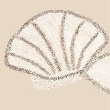 Seashell Bath Rug Scallop Shell Bath Rug