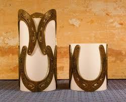 Horseshoe Decoration Ideas 101 Best Horseshoe Candle Images On Pinterest Horseshoe Art