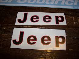 jeep islander decal jeep cj yj scrambler fender decal set of 2 vinyl sticker