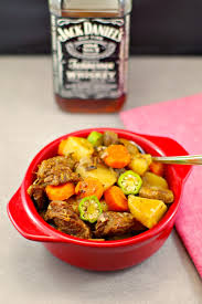 slow cooker whiskey beef stew gluten free food meanderings