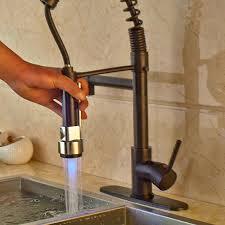 rubbed bronze kitchen sink faucet 3 color changing rubbed bronze kitchen sink faucet