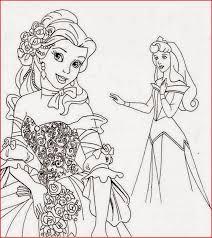 disney movie princesses belle coloring pages