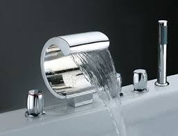 designer bathroom fixtures image detail for choose the right waterfall bathroom faucet