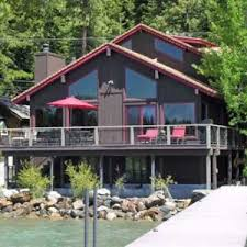 lake tahoe lakefront vacation rentals with a pier and buoy