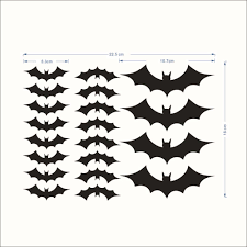 aliexpress com buy diy pvc bat wall sticker decal home halloween