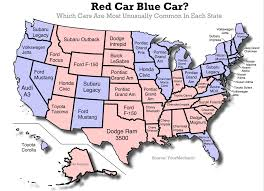 Republican States Map by Do Republicans And Democrats Drive Different Types Of Cars