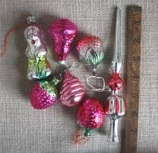 6 tree decorations ornaments vintage midcentury