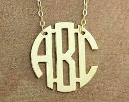 Circle Monogram Necklace Circle Monogram Necklace Name Necklace By Monogramarea On