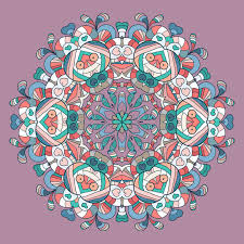circle lace organic ornament mandala stock illustration