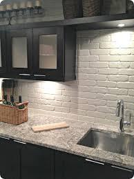 brick tile kitchen backsplash painted brick backsplash faux brick or veneer kitchen ideas