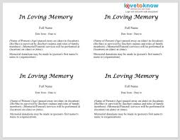 Funeral Service Announcement Wording 25 Obituary Templates And Samples Template Lab