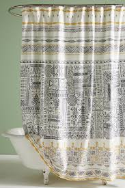 Unique Shower Curtains Grey Unique Boho Shower Curtains Liners Anthropologie