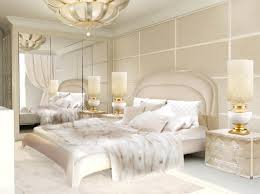 creative white and cream bedroom with additional home decoration