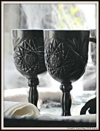 halloween goblets vignette week halloween tablescape u2026 courtney out loud