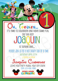 Mickey Mouse Invitation Cards Printable Mickey Mouse Clubhouse 1st Birthday Invitations Cloveranddot Com
