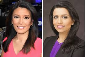 pictures of new anchors hair reena ninan elaine quijano anchor renamed cbs weekend news