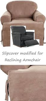 chair slipcovers t cushion slipcovers for reclining sofa chair slipcover t cushion suede taupe