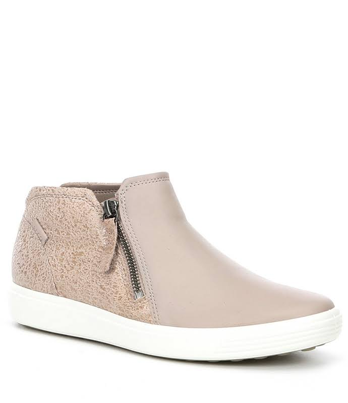 ECCO Soft 7 Low Bootie Grey Rose / Grey Rose