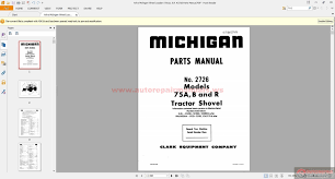 volvo michigan wheel loaders 75a b u0026 r 2726 parts manual auto