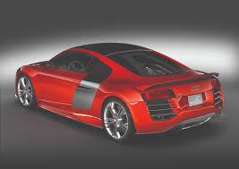 Audi R8 Red - audi r8 tdi le mans brillant red side 3 4 rear eurocar news