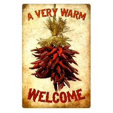 chili pepper home decor a very warm welcome chili bunch steel sign vintage home decor 12 x