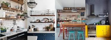 cuisine boheme chic stunning deco cuisine blanc et bois images design trends 2017