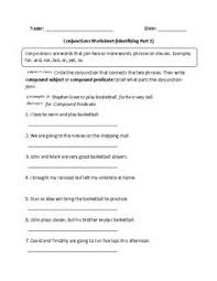englishlinx com conjunctions worksheets englishlinx com board