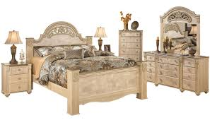 saveaha light brown marble 2pc bedroom set w king poster bed