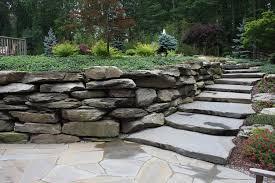 landscape u0026 natural boulder wall u0026 stone staircase in orange