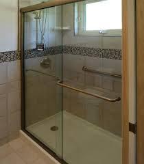 celesta shower doors celesta semi frameless sliding shower door fits 44 48 inch opening