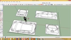 make a blueprint how to make car with sketchup setting car blueprint youtube