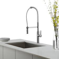 Commercial Kitchen Sinks Kraus Kpf 165 Nola Single Lever Commercial Kitchen Faucet