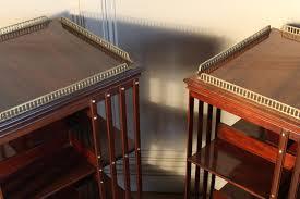 Revolving Bookcases Sold Pair Of 19c Mahogany Revolving Bookcases Antique Bookcases