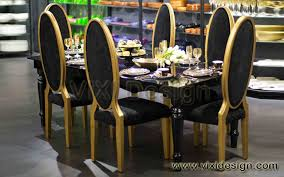 gold dining table set gold high back chair dining table set oman vixi design furniture