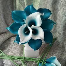 teal flowers 2018 oasis teal wedding flowers teal blue calla lilies 10 stem